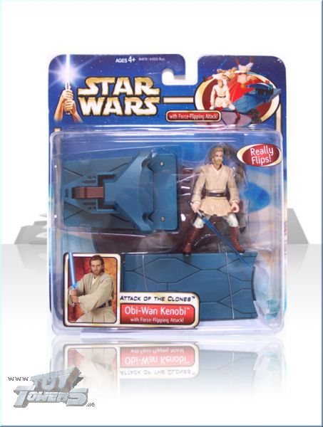 AOTC - Obi-Wan Kenobi with Force Flipping Attack - Deluxe Set