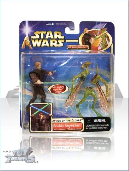 AOTC - Anakin Skywalker Lightsaber Slashing Action - Deluxe Set