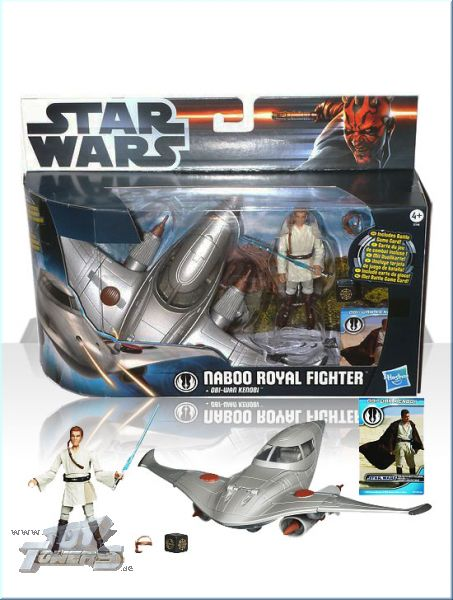 TCW2012 - Naboo Royal Fighter + Obi-Wan Kenobi