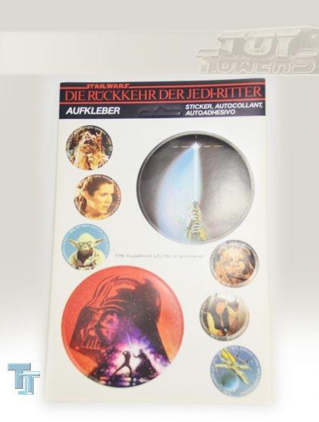 Aufkleberbogen - Die Rückkehr der Jedi Ritter - 1983, komplett