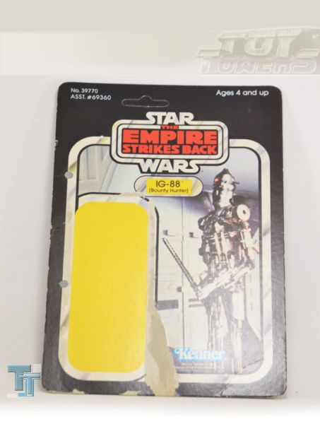 TESB IG-88 - Back Card - 41 Back, Kenner,  lose