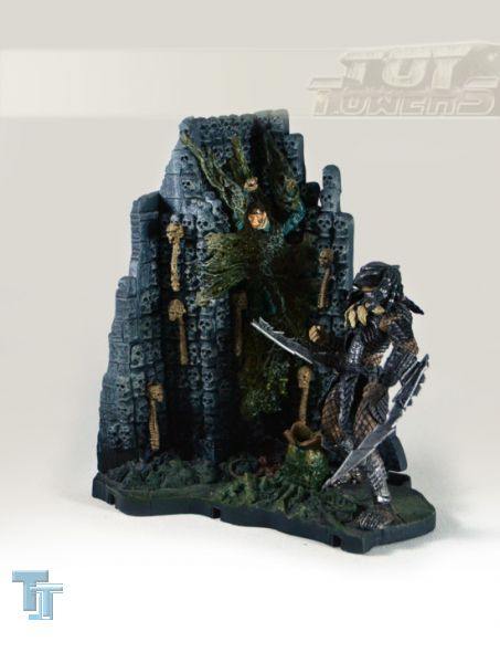 ALIEN vs. PREDATOR - Series 2: Predator with Base (4 1/2), lose