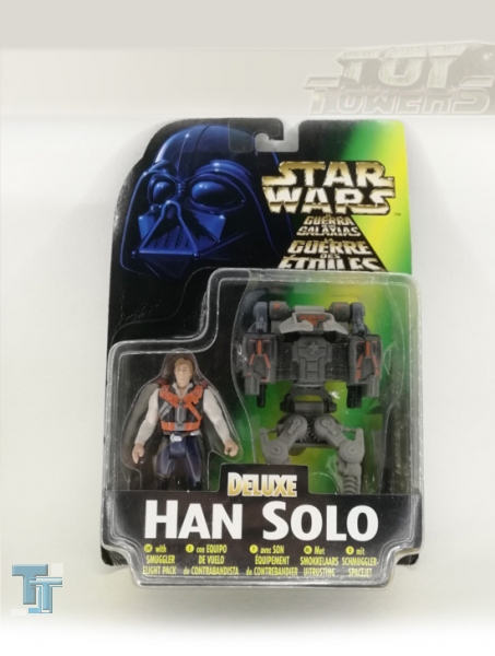 POTF² Han Solo with Smugglers Flight Pack, MOC