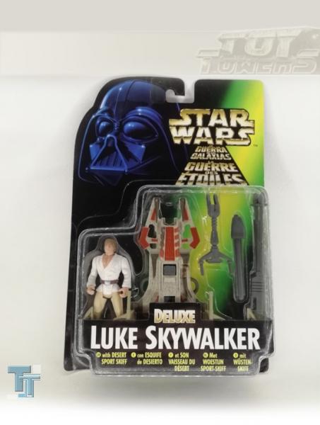 POTF² Luke Skywalkers Desert Sport Skiff with Blasting Rocket Launcher, MOC